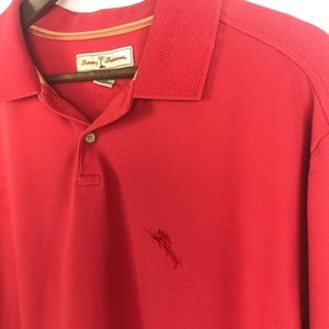 Tommy Bahama Mens Red Polo Shirt Size XL